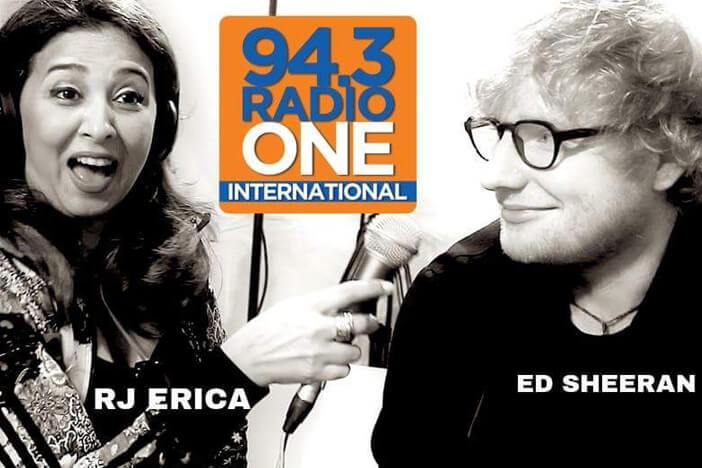 RJ Erica with Ed Sheeran
