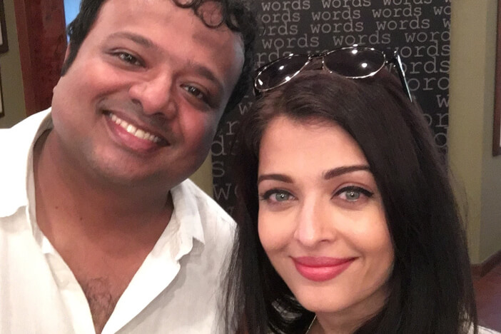 Hrishi K with Aishwarya Rai